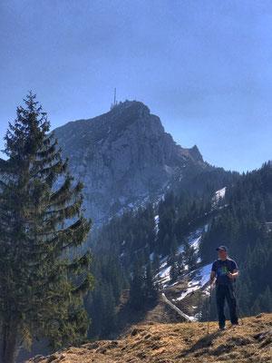 Auf dem Weg zum Schweinsbergsattel