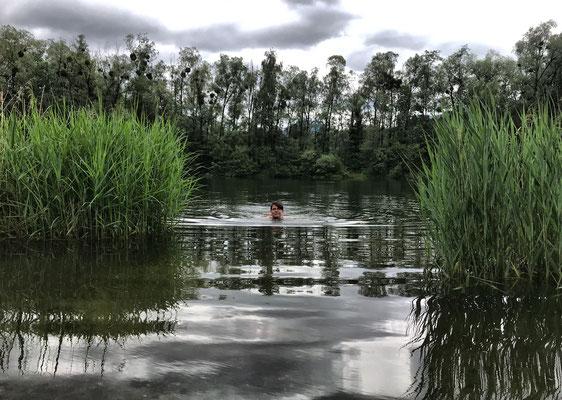 Abkühlung im Reischenharter See