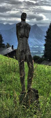 Skulptur an der Breitenberghütte