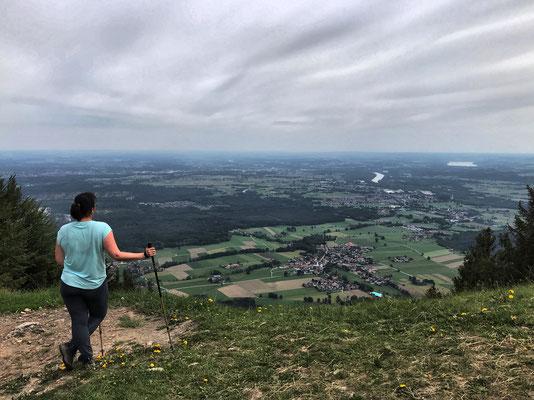 Aussicht vom Sulzberg nach Nordosten ins Tal