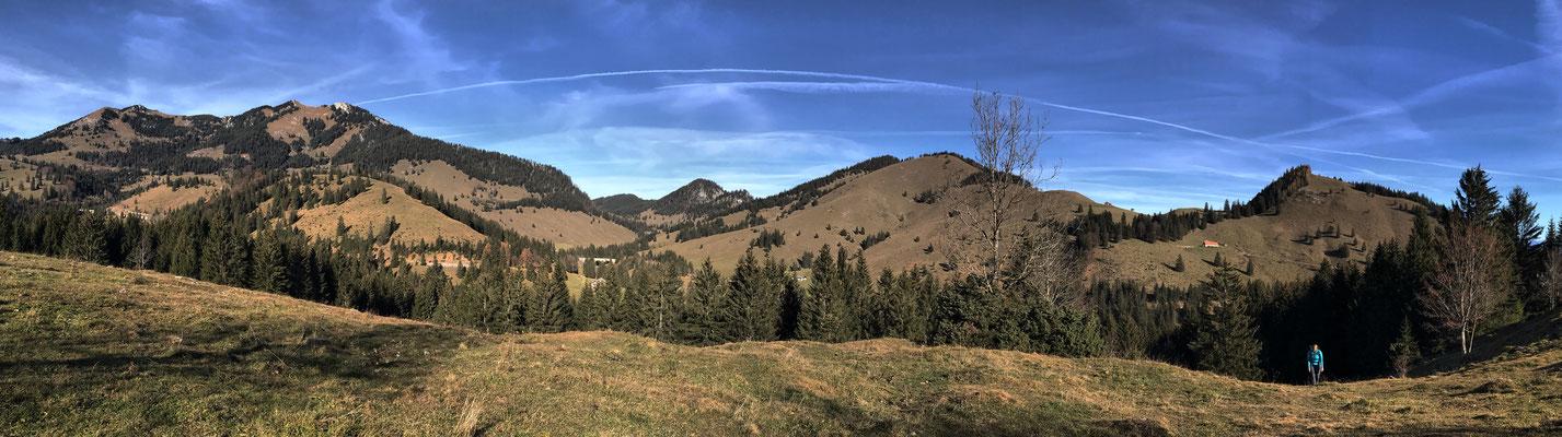 Panorama zum Wildalpjoch und ins Arzmoos