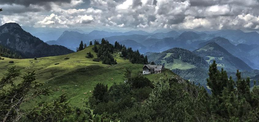 Blick auf die Klausenhütte