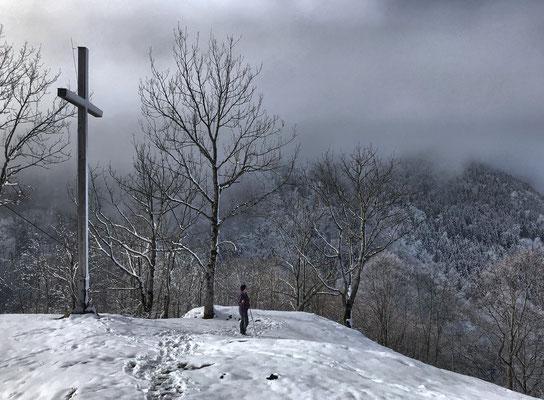 Gipfelkreuz am Petersberg (Kleiner Madron)
