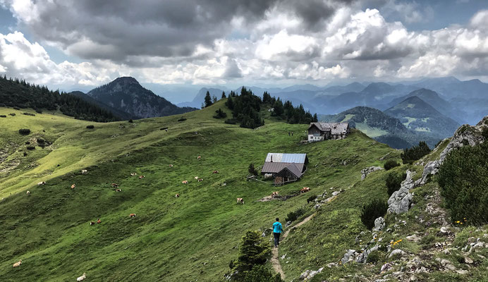Auf dem Weg zur verfallenden Klausenhütte