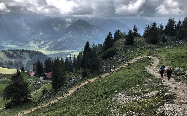 Aufstieg zum Breitenstein-Gipfel