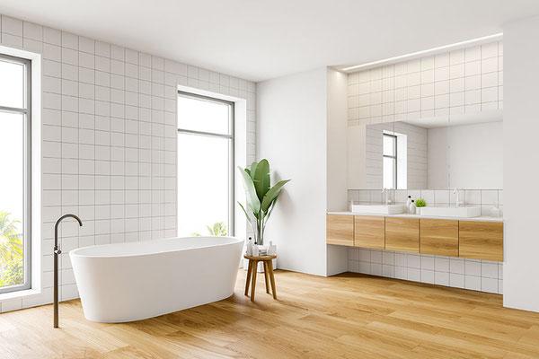 Waterbestendig PVC laminaat kan prima in de badkamer