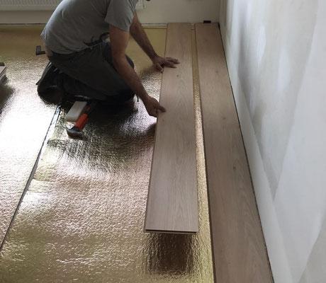 Start werkzaamheden na plaatsing ondervloer 10dB