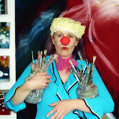 Ursula Zetzmann in Aktion als Clown