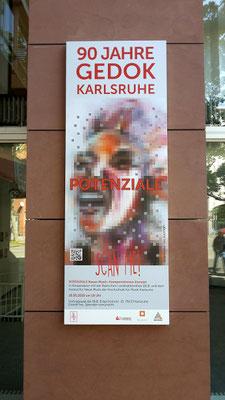 © Plakat-Kunstwerk Iris Kamlah, Banner GEDOK-Galerie
