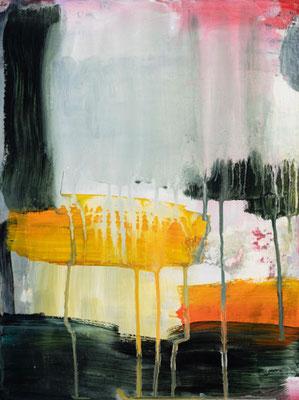 Uschi Lüdemann, o. T.,  2019, Acryl Pigmente Leinwand, 40x30 cm