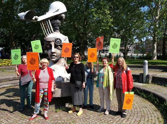 GEDOK Künstlerinnen für die Zukunft beim Klimastreik in Karlsruhe am 24.05.2019