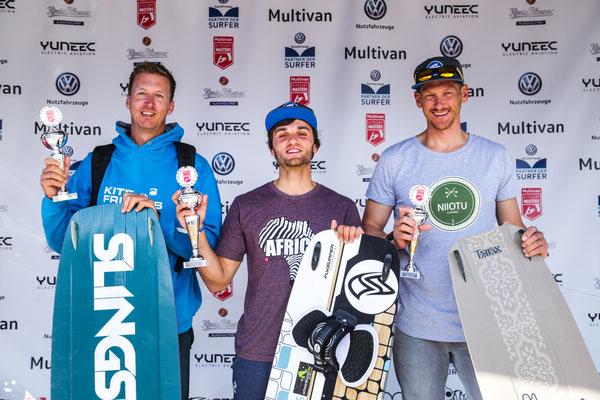 Slalom Herren v.l. Heiko Student(2), Darian Rubbel (1), Nik Ressig (3)