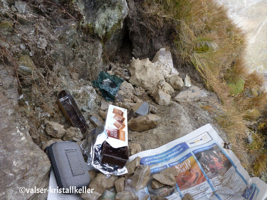 Kluft mit Rauchquarz - Lampertschalp Vals Graubünden Schweiz