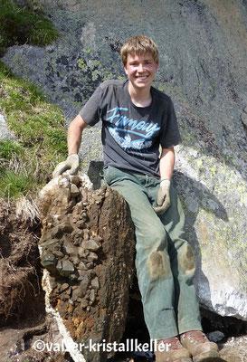 Strahlen im Unteraar Grimsel Schweiz