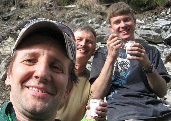 Remo, Richi, Hannes und natürlich - Yoghurt!