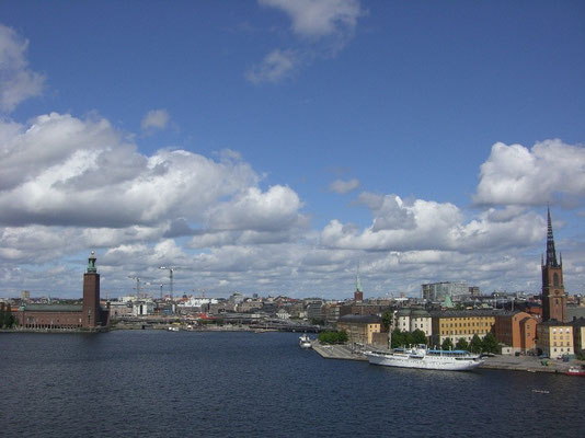 view from Södermalm over Stockholm