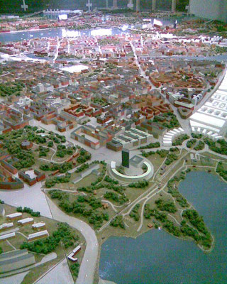 model of Stockholm in Kulturhuset
