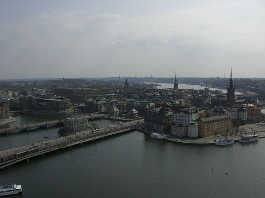 view over Stockholm from the tower of Stadshuset