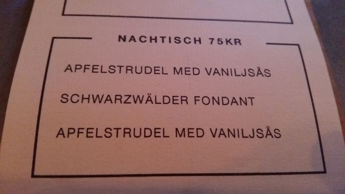 Tell me, Apfelstrudel mit Vanillesoße?