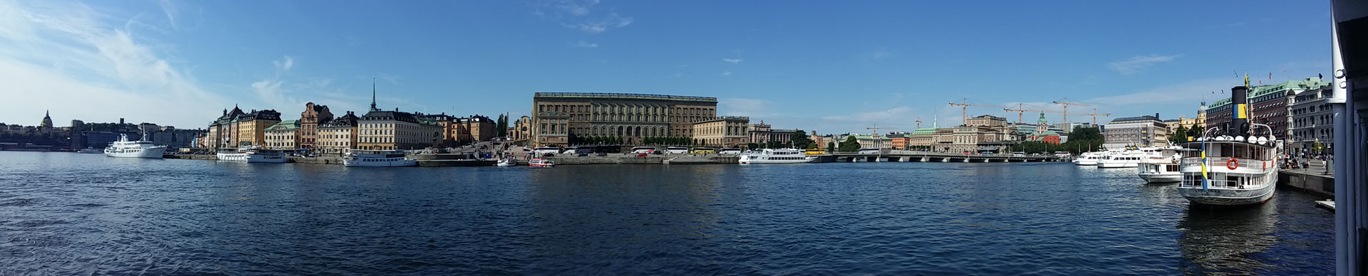 The Royal Castle and its surroundings seen from a boat