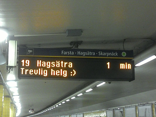 The Stockholm metro is so friendly ...