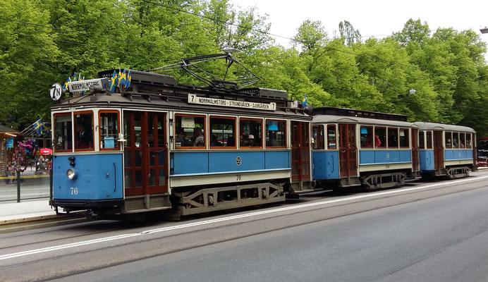 Old tram in Stockholm