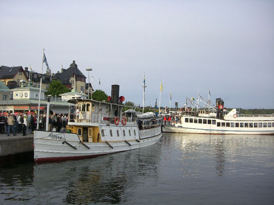 steamboats in Waxholm