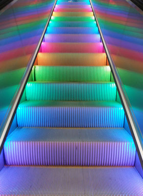 In the beginning of august, even the escalators are pride to be