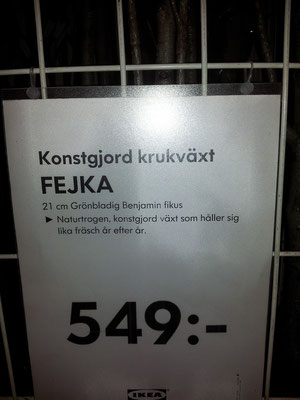 Nice name for a faked plant @IKEA