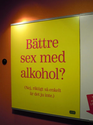 Swedish ad in Systembolaget