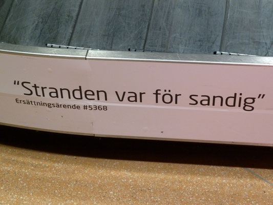 at Arlanda airport