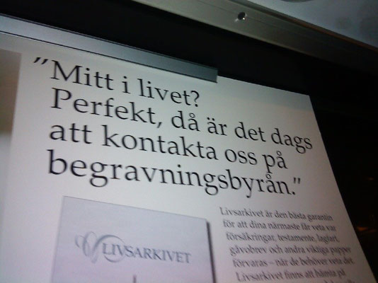 Swedish ad in the metro