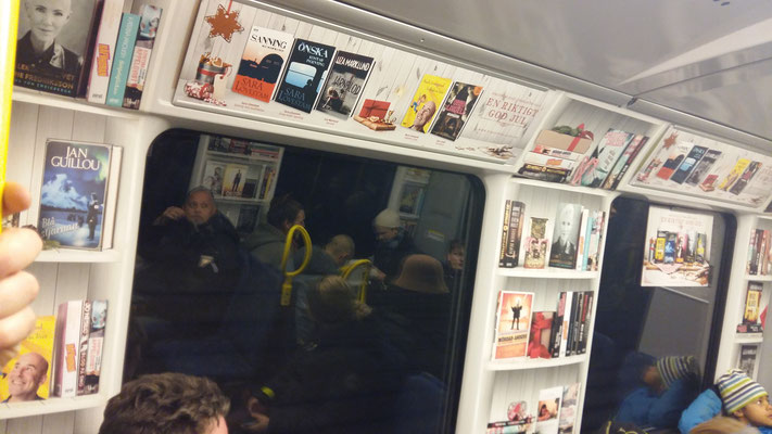 Turning the metro into a bookshelf