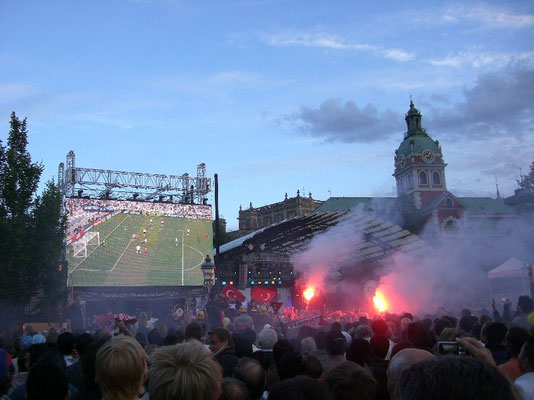 public viewing at Kungsträdgården