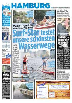 BILD Hamburg, SUP durch Hamburg, Print&Online, Juni 2017