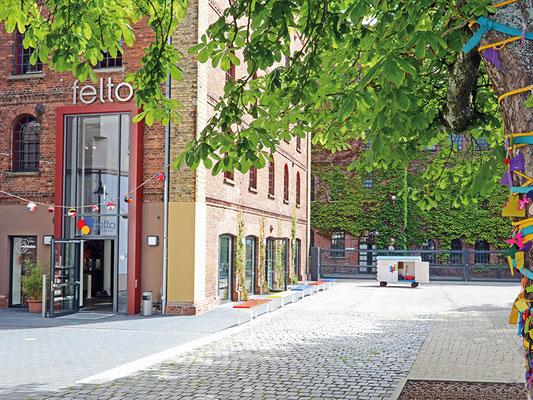 Blick auf den Eingang des felto in Soltau