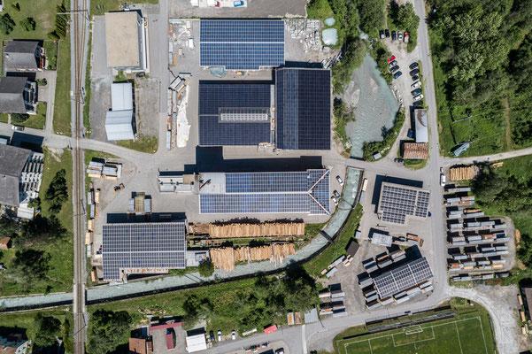 PV Aufdachanlage, Trun 540 KWp