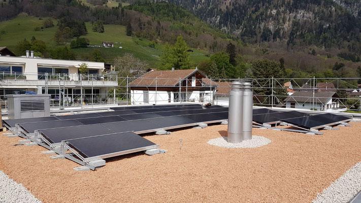 PV Aufdachanlage Malans 8 KWp
