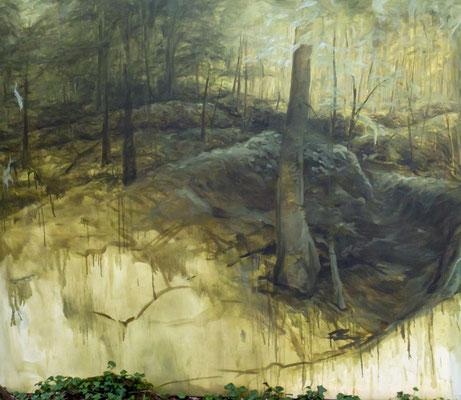 REPLI - N 48° 54' 51,3'' / E 005° 24' 51,4'' / NO - juin14 - huile sur toile, 220 x 190 cm