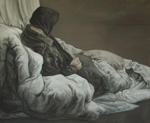 dormeur I V- juin10 - huile sur toile, 120x100cm
