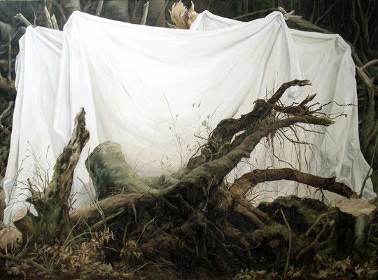 theatre d'un massacre - mars12 - huile sur toile, 190x140cm