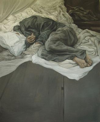 dormeur I - juin10 - huile sur toile, 130x160cm