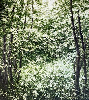Glósóli - aout20 - huile sur toile, 3,60 x 3,20 cm