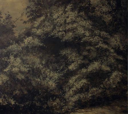 AfterGlow - sep15 - huile sur toile, 320x360cm
