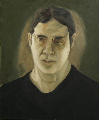 oeil au beur noir III - aout11 - huile sur toile, 36x48cm