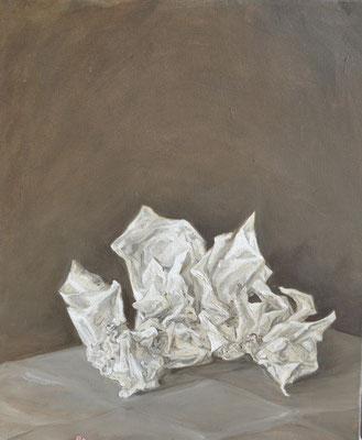 Extinction - mai15 - huile sur toile, 45,5x37,5cm