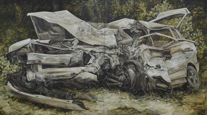 NO CARS GO III - juin16 - huile sur toile, 190x340cm