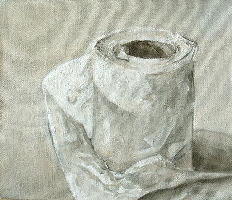 tout doit disparaitre - aout11 - huile sur toile marouflée, 18,5x16cm