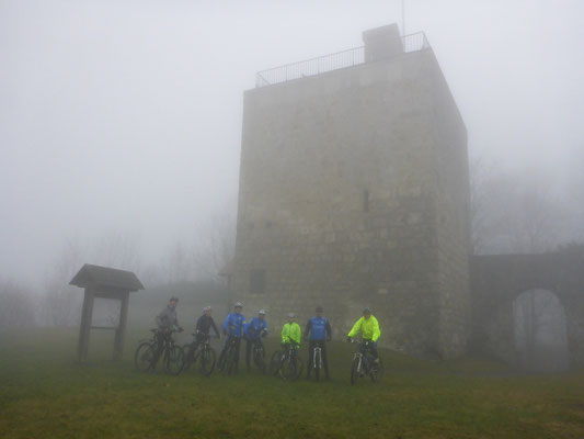 ... leider viel Nebel am Bussen und so kamen wir um die tolle Aussicht ...