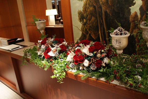 受付装花の実績2